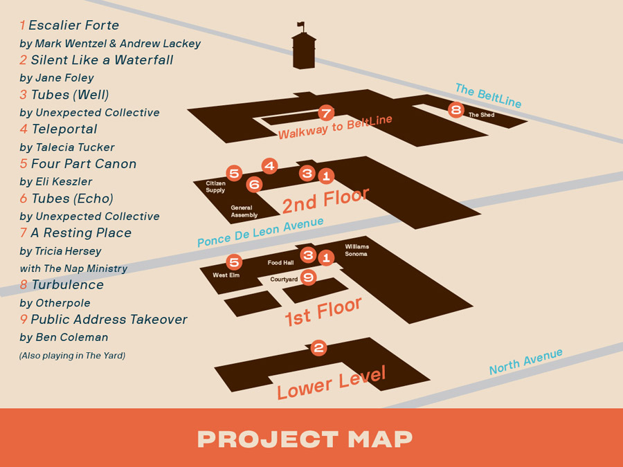 FLUX: Ponce City Map map of projects